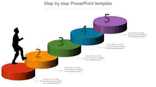 step by step powerpoint template infographics design
