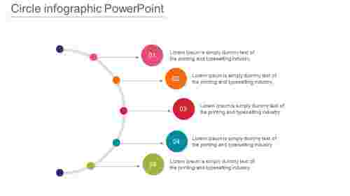 SpokesArrangementsofCircleInfographicPowerpoint
