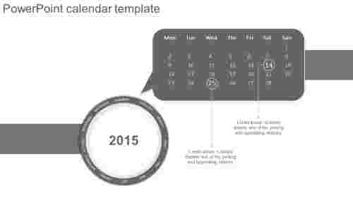 PowerPoint calendar template callout model