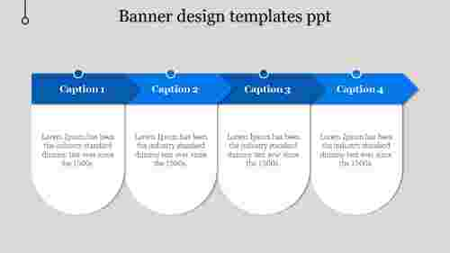 banner design templates ppt-Blue