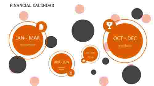 Calendar presentation template bubble model
