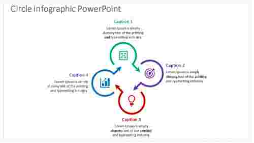 Circle Infographic Powerpoint with arrow model