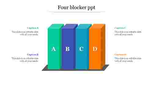 FourBlockStylePowerpointTemplate