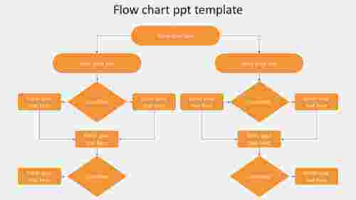 Simple flow chart PPT template