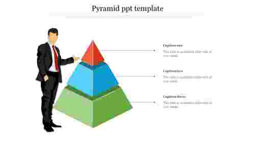 Editable pyramid PPT template - Hierarchy model