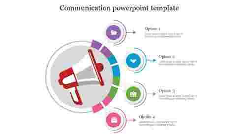 CommunicationpowerpointtemplatewithCircularspokesdesign