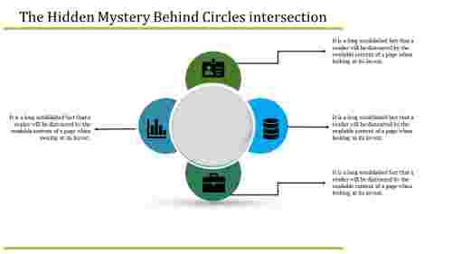 Truth about circle infographic PowerPoint