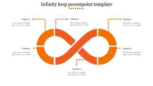 infinity loop powerpoint template-Orange