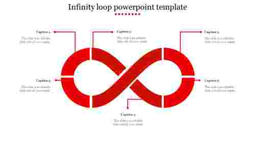 infinity loop powerpoint template-Red