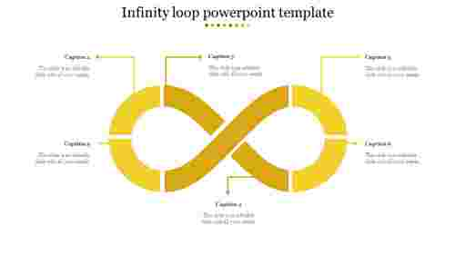 infinity loop powerpoint template-Yellow