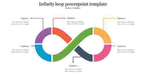 Multicoloredinfinitylooppowerpointtemplate