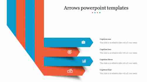 A seven noded arrows powerpoint templates