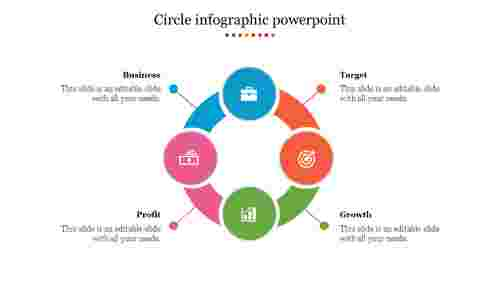 Creative circle infographic powerpoint