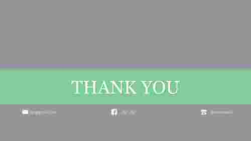 Simple thanks slide in powerpoint template