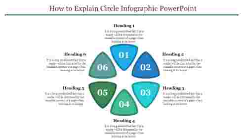TrianglemodelcircleinfographicPowerPoint