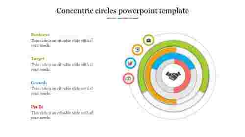 Bestconcentriccirclespowerpointtemplate