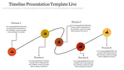 affixed timeline presentation template