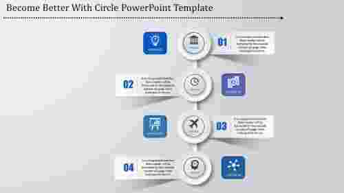 visualize circle timeline powerpoint template