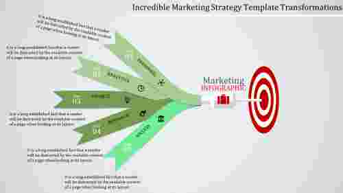 Arrow marketing strategy template