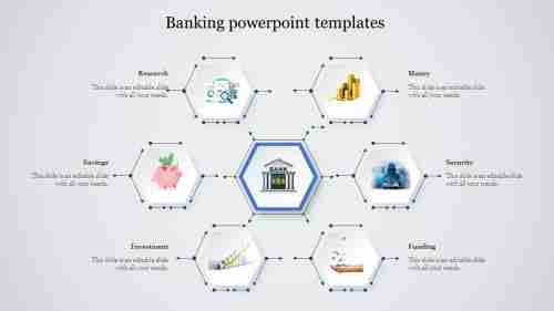 banking PowerPoint template-spider model
