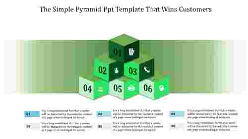 Pyramid PPT Template - 3d