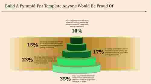 Multi-step pyramid powerpoint template