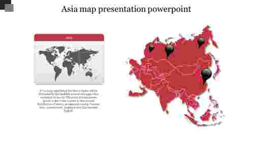 asia map presentation powerpoint