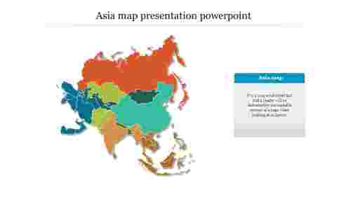 Colorful Asia Map Presentation Powerpoint