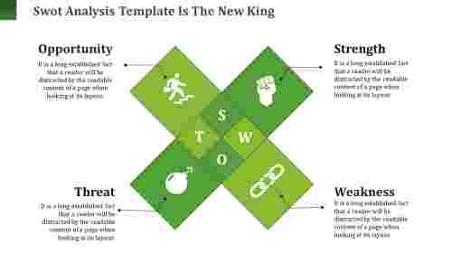 Rhombus model Swot Analysis Template
