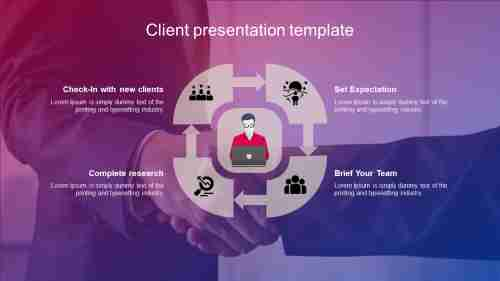 Our client presentation template design