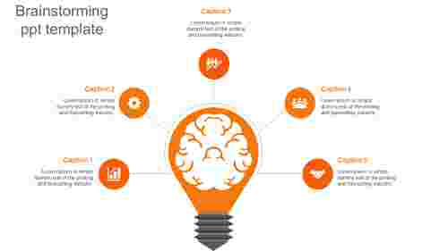 brainstorming ppt template-orange