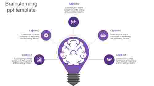 brainstorming ppt template-purple