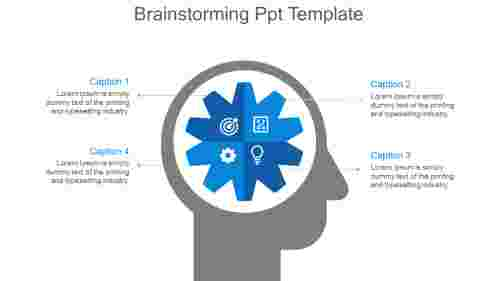 Brainstorming Ppt Template-blue