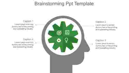 Brainstorming Ppt Template-green