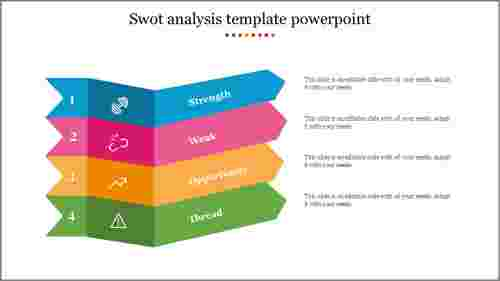 Flat SWOT Analysis Template Powerpoint