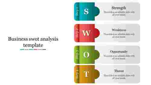 business swot analysis template-Layered vertical