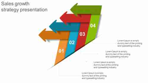 Arrow shaped sales growth strategy presentation