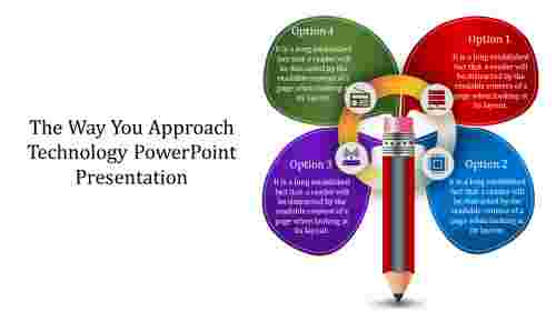 Technology PowerPoint Presentation with pencil design