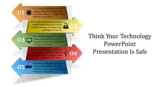 Technology Powerpoint Presentation - Arrow model