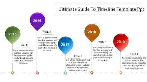 timeline template PPT - creative