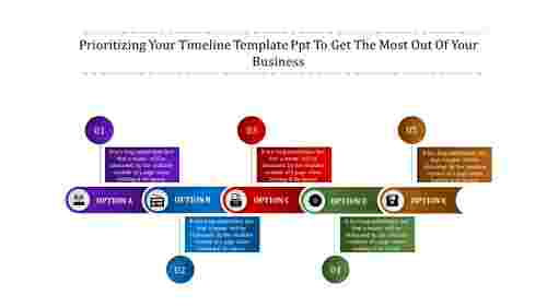 straped timeline template PPT