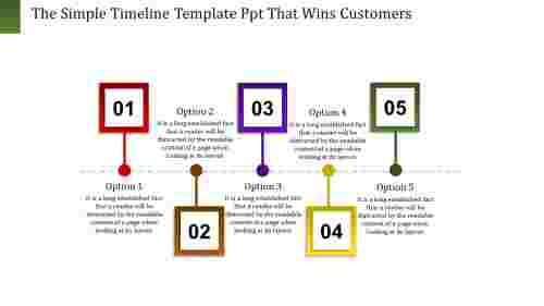 anchored timeline template PPT