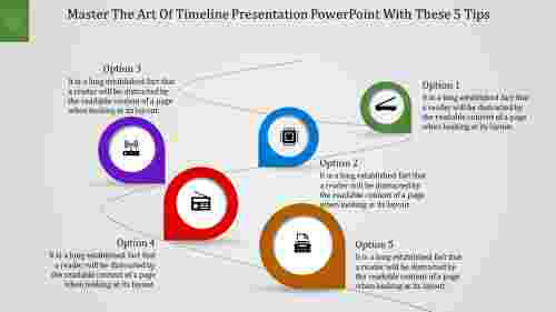 Customizable timeline presentation powerpoint