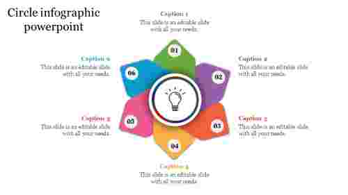 Circle infographic PowerPoint presentation template