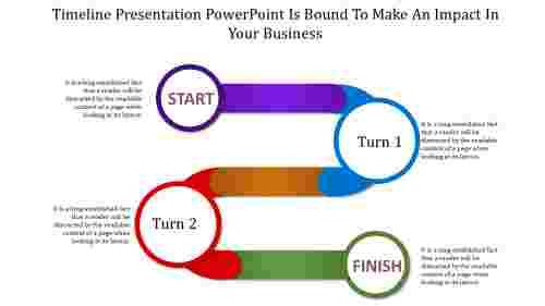 Zigzag timeline presentation powerpoint