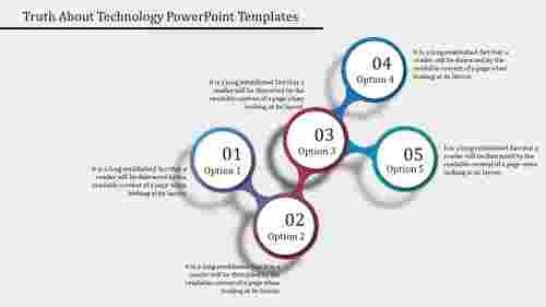 Technology Powerpoint Templates - Cluster Design