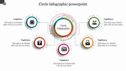 Technology Concept Circle Infographic Powerpoint