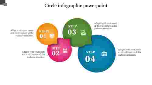 Circle Infographic Powerpoint With Process Flow Designs