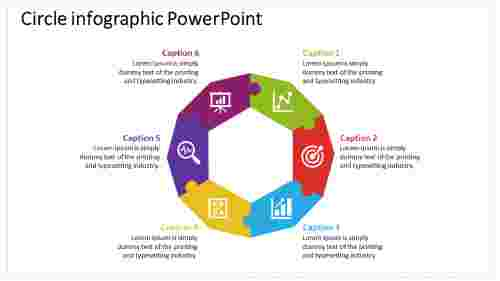 Circle Infographic Powerpoint With Puzzle Designs