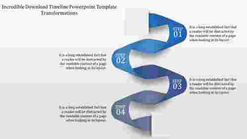 Download Timeline Powerpoint Template - Snake model